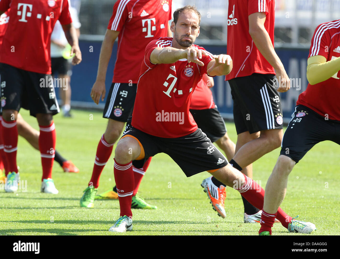 Munich's goalkeepers Tom Starke take part in a training session in Arco, Italy, 09 July 2013. German Bundesliga - Stock Image
