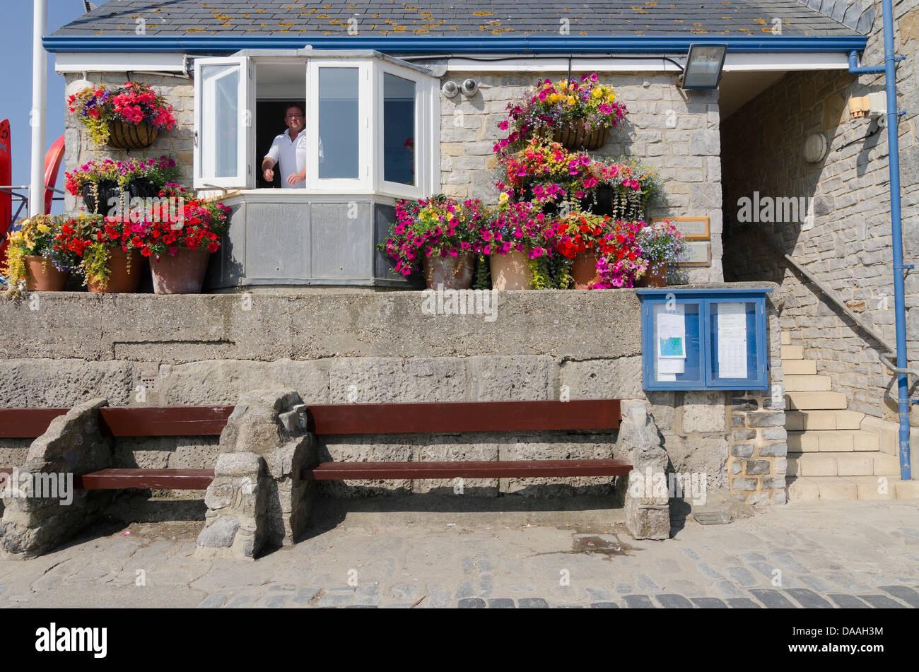 Harbourmaster's Office Lyme Regis Dorset UK - Stock Image