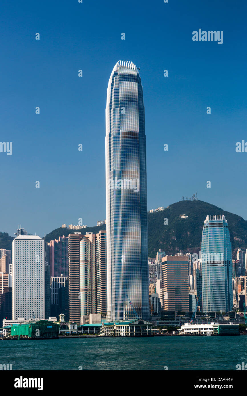 Hong Kong, China, Asia, City, Financial, Center, Building, architecture, buildings, central, modern, skyline, skyscrapers, - Stock Image