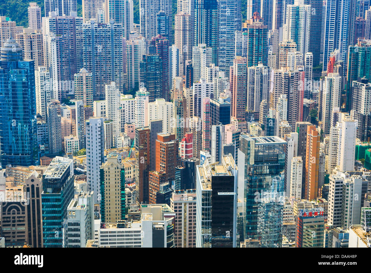 Hong Kong, China, Asia, City, Sheung Wan, District, architecture, buildings, central, skyscrapers - Stock Image