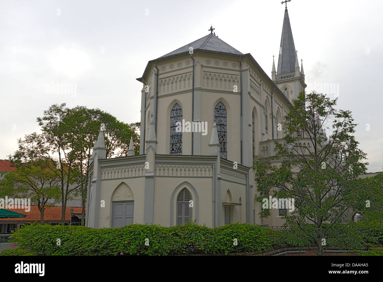 Chijmes Church, Chij Chapel is desecrated,Singapore - Stock Image
