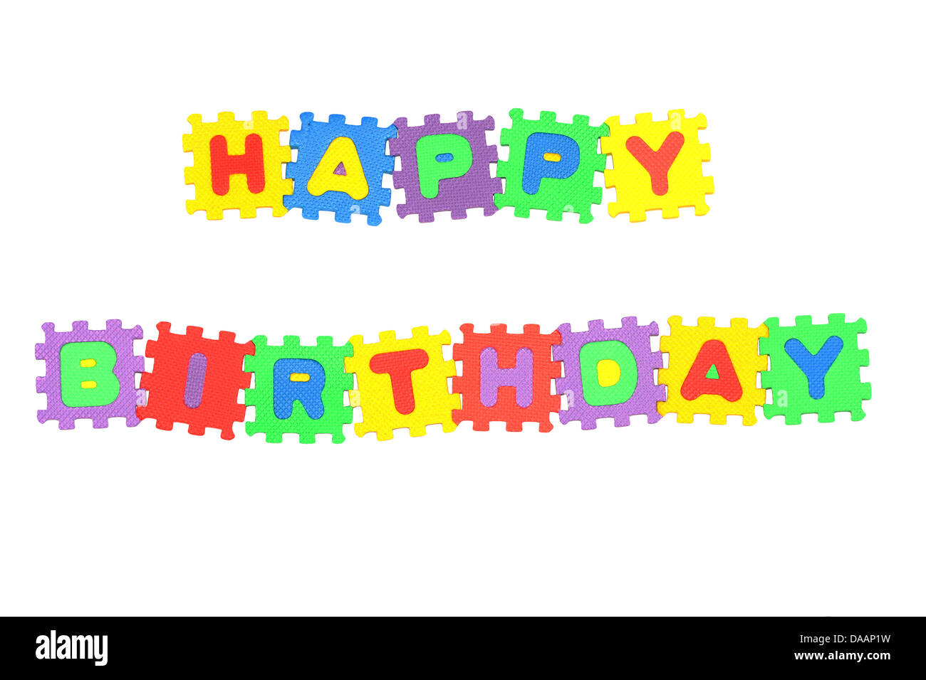 This Is A Message Happy Birthday From Letter Puzzle