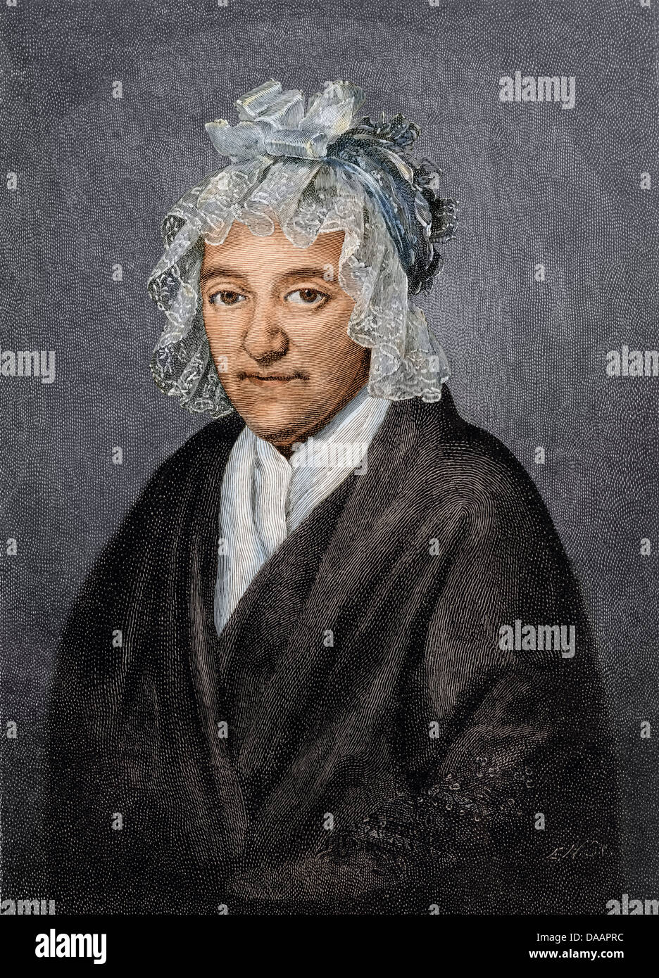 Mother of Ludwig van Beethoven. Digitally colored engraving of a painting by Beckenkamp Stock Photo