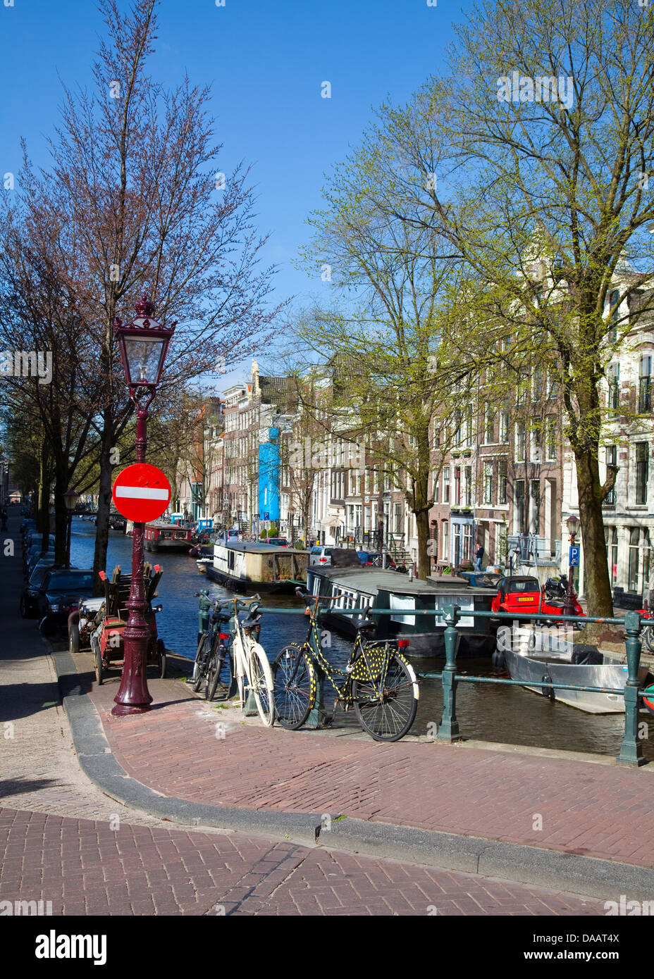 Europe,Netherlands,North Holland,Amsterdam,Jordaan,Prinsengracht - Stock Image