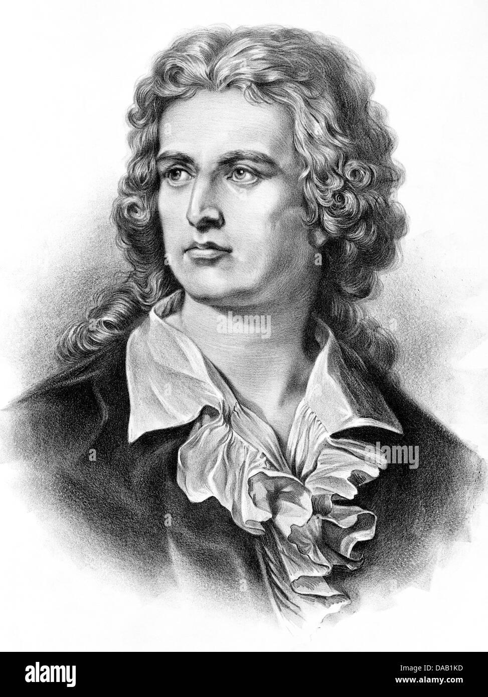 FRIEDRICH SCHILLER (1759-1805) German writer - Stock Image