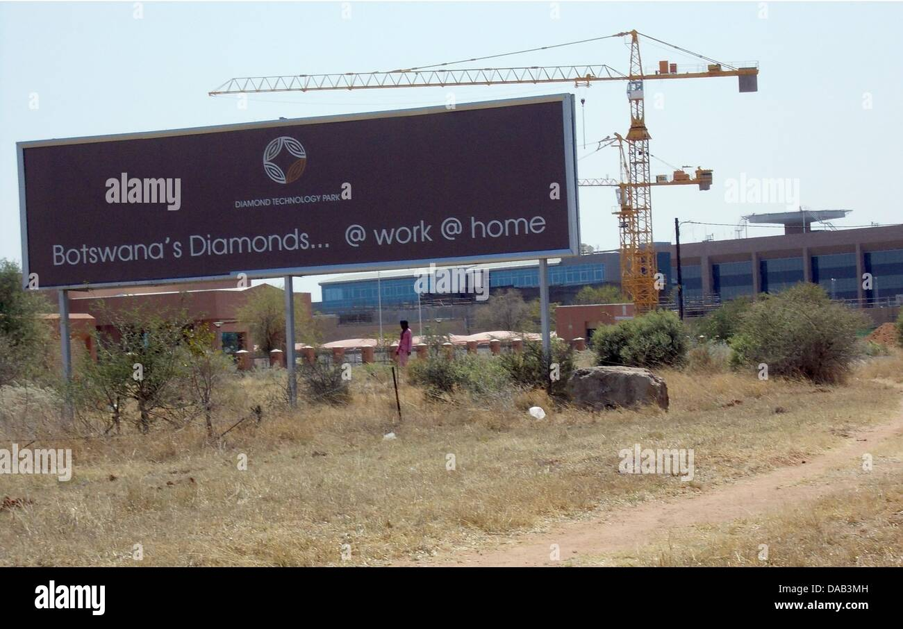The construction site of the new diamond centre is seen in Gaborone, Botswana, September 2011. Diamond giant De - Stock Image
