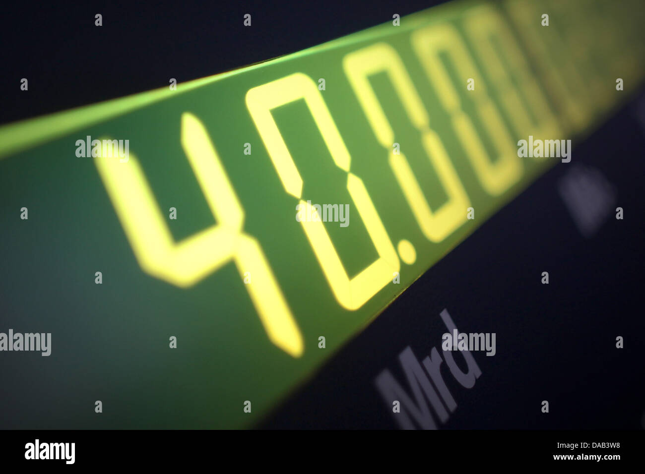 The Hesse debt clock passed the 40-billion-euro mark at the headquarter of the German Taxpayers Federation (BdSt) - Stock Image