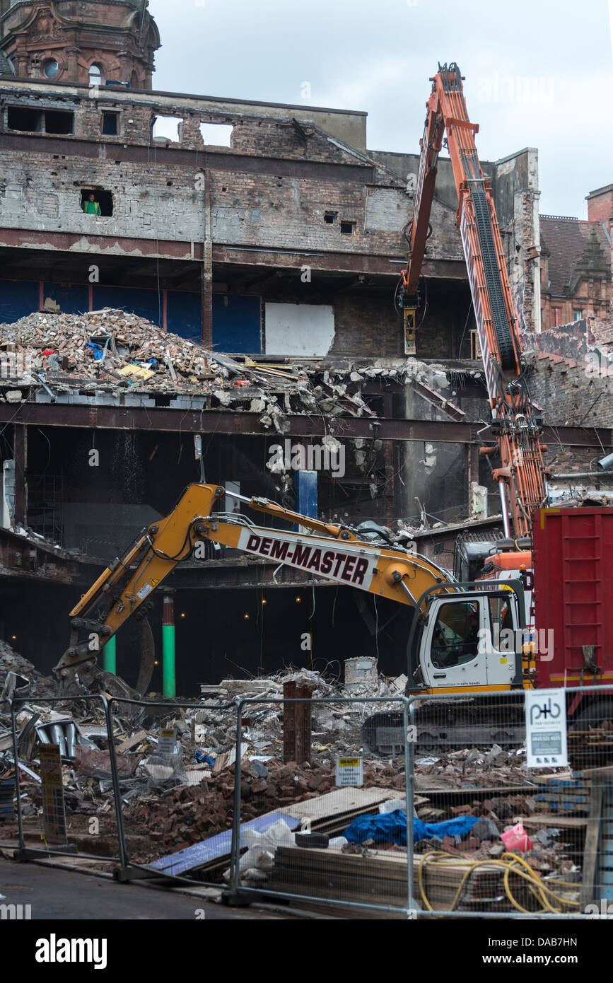 The old Paramount cinema latterly the Odeon in Renfield Street Glasgow finally demolished in the spring of 2013 - Stock Image