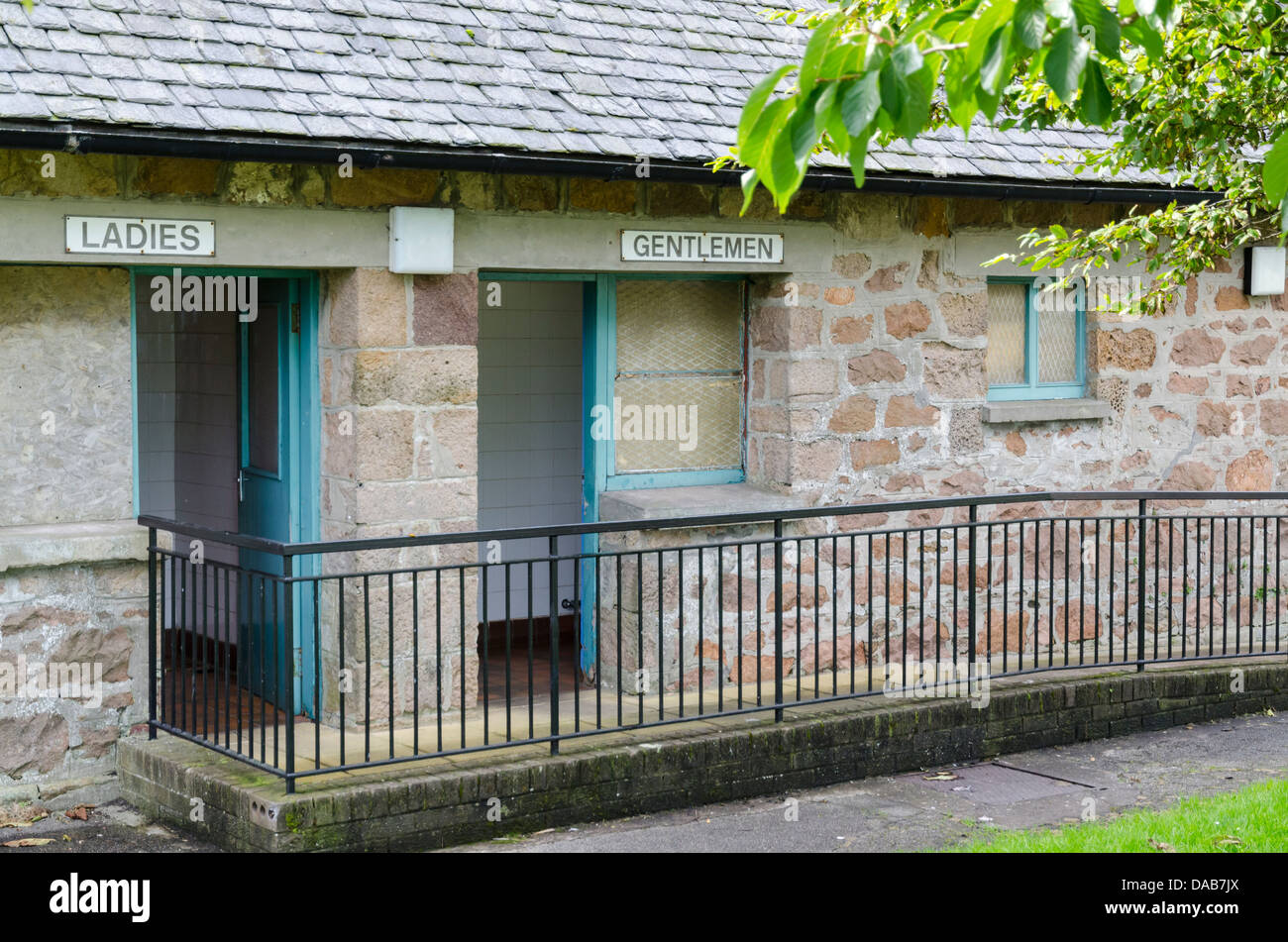 Public lavatories on the quayside at Campbeltown Argyll Scotland - Stock Image