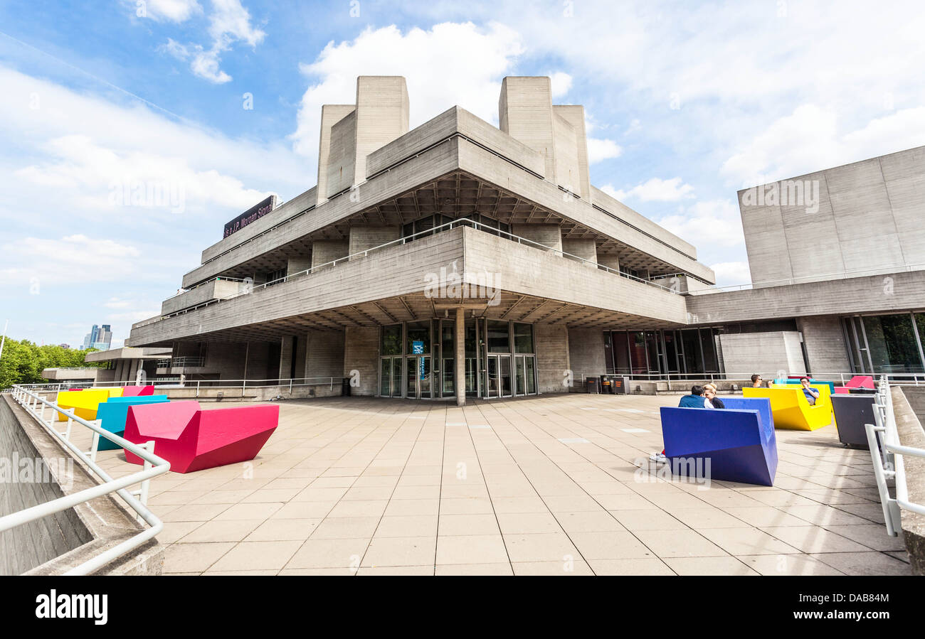 The Royal National Theatre, London, England, UK - Stock Image