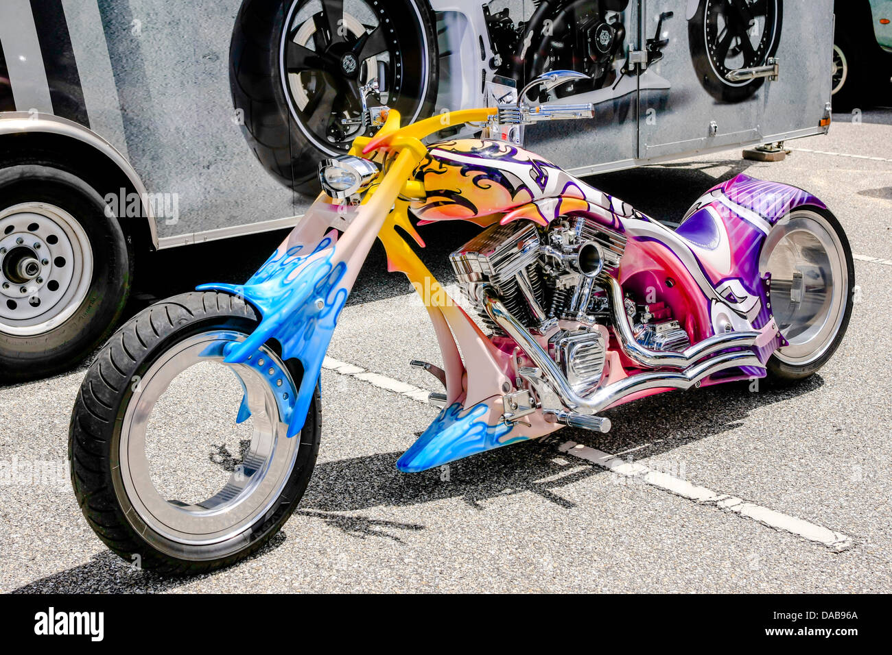 A concept motorcycle on show at a local event in Sarasota FL - Stock Image
