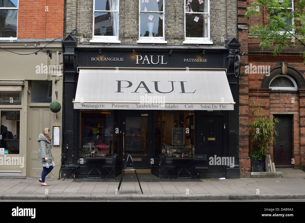 Paul bakery and cafe in Upper Street, Islington, London, UK. - Stock Image