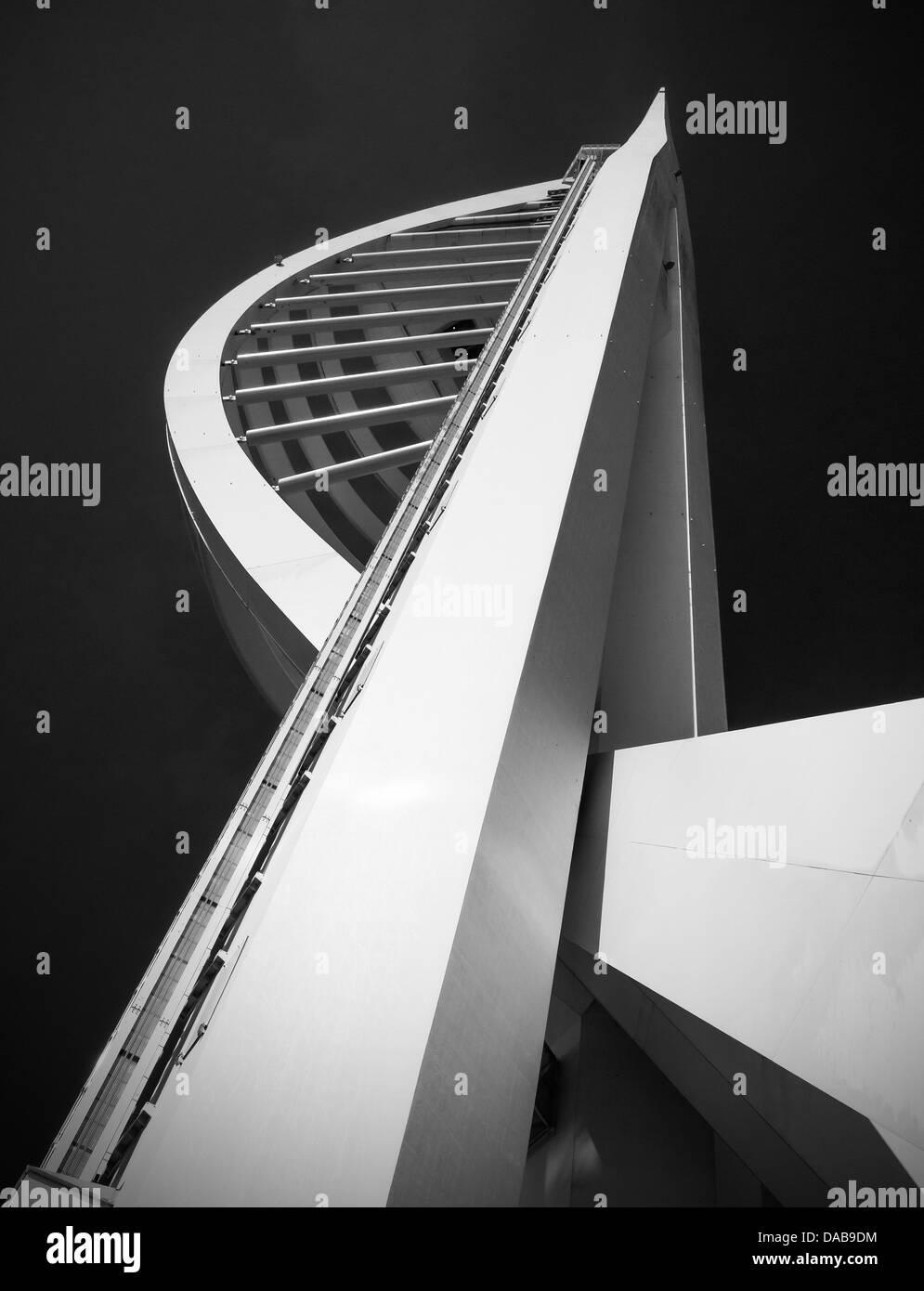 Spinnaker Tower Portsmouth Creative Monochrome Stock Photo