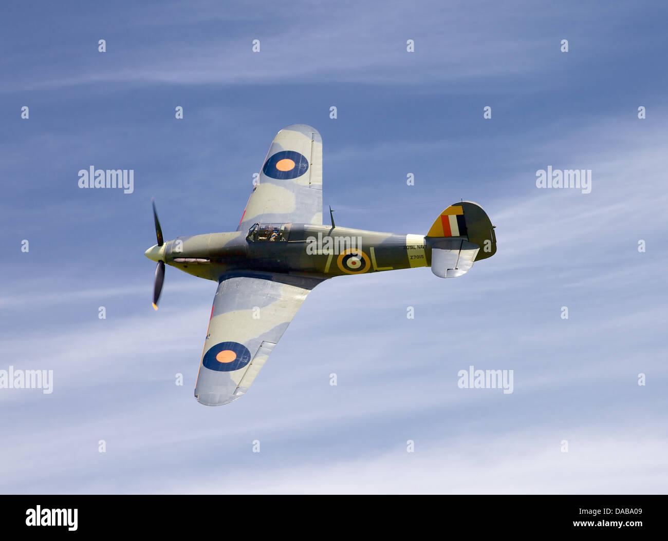 A 1941 Hawker sea Hurricane, England - Stock Image