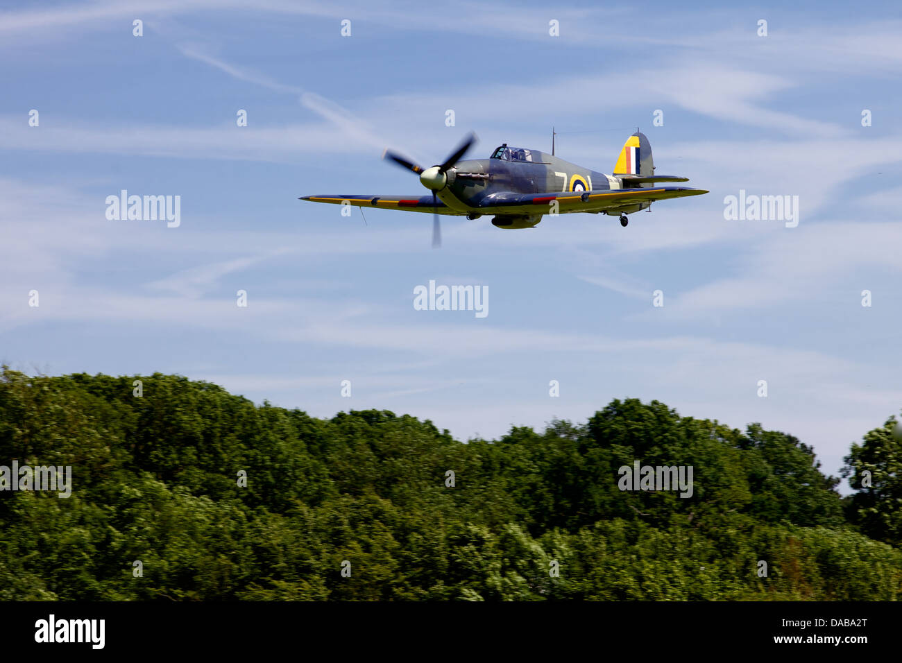 A 1941 Hawker sea Hurricane flying low at an air display, England - Stock Image