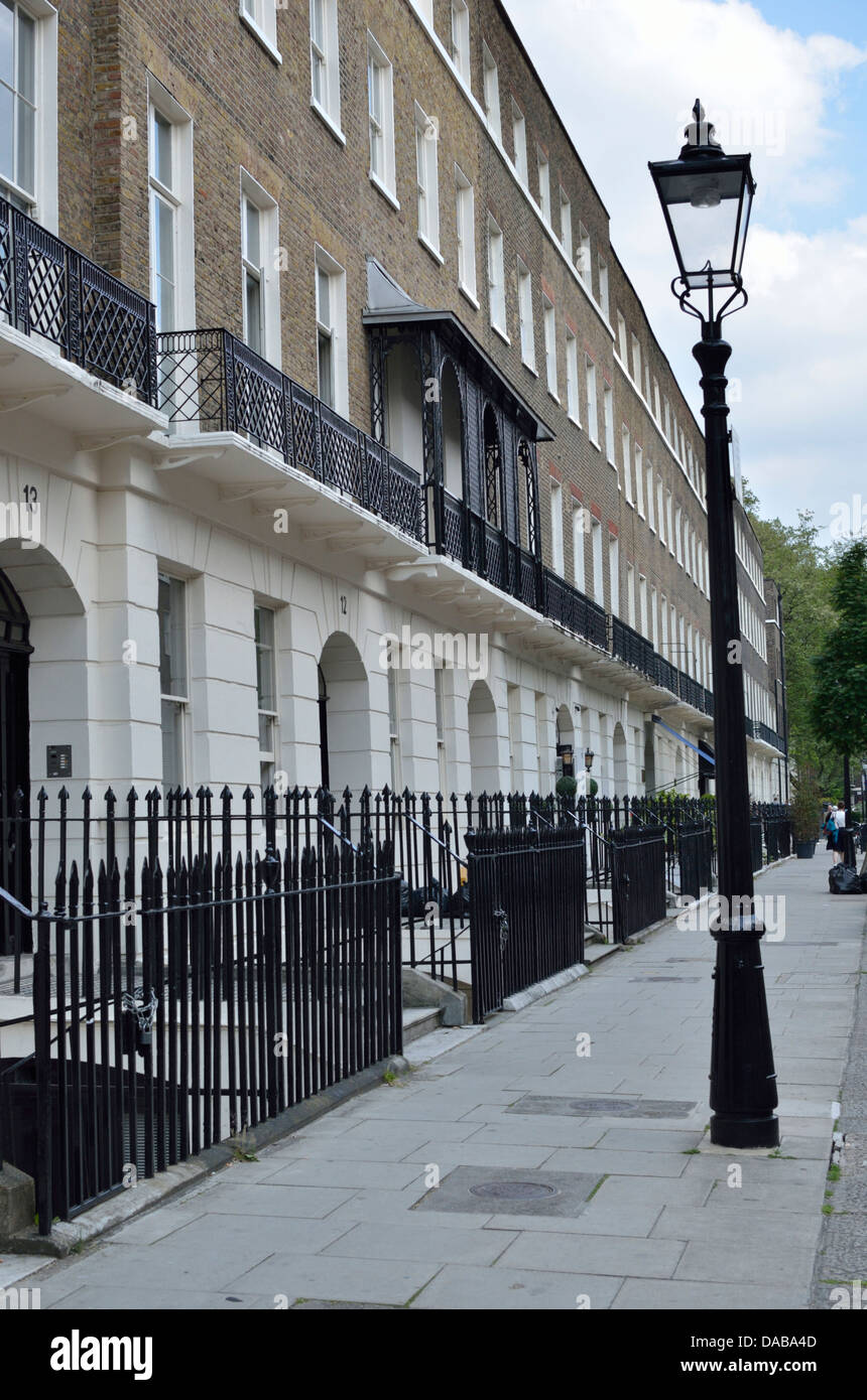 Houses in Bedford Place, Bloomsbury WC1, London, UK - Stock Image