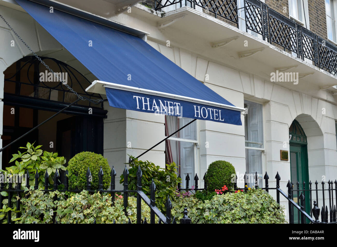 Thanet Hotel in Bedford Place, Bloomsbury WC1, London, UK - Stock Image