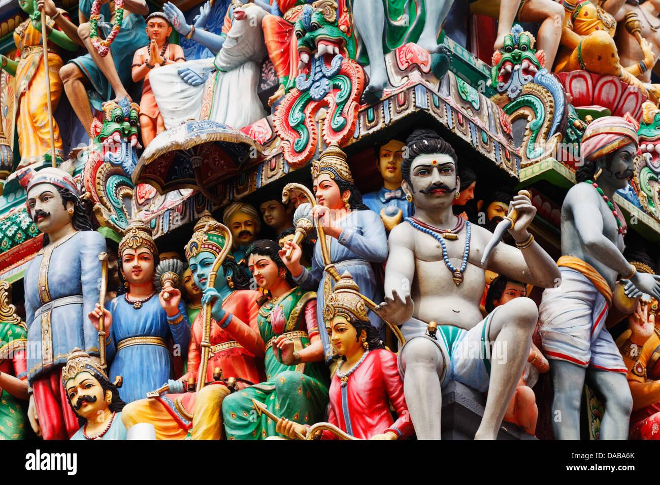Sri Mariammam temple, Singapore, Asia - Stock Image