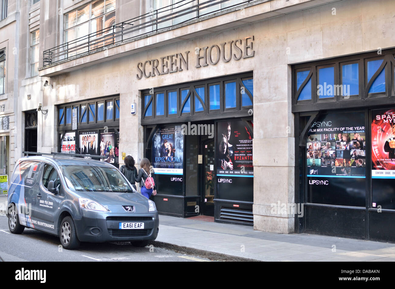 Screen House in Wardour Street, Soho, London, UK. - Stock Image