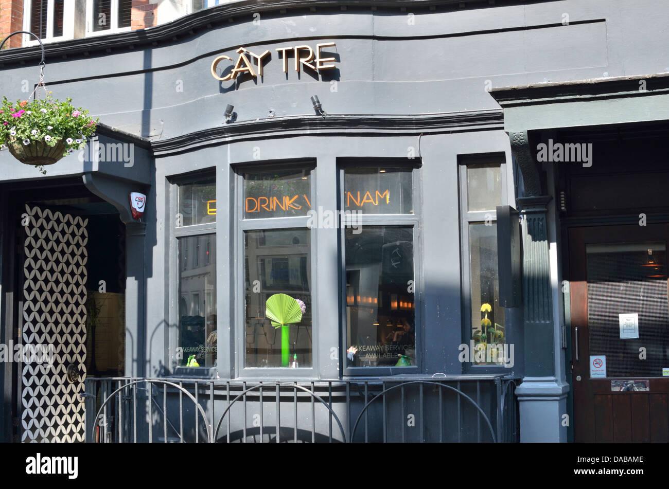Cay Tre Vietnamese restaurant in Dean Street, Soho, London, UK Stock ...