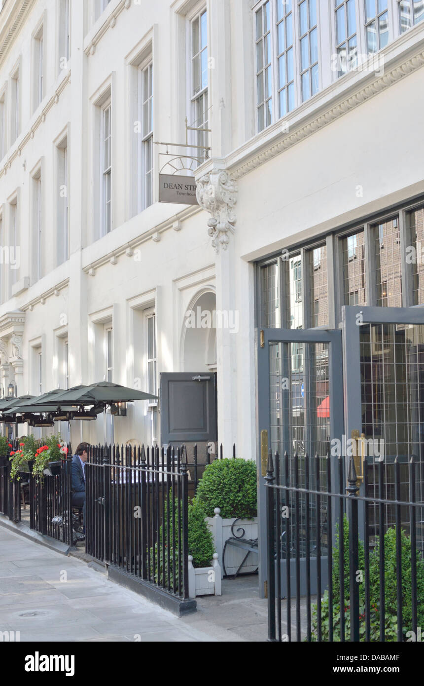 Dean Street Townhouse hotel and restaurant in Soho, London, UK. - Stock Image