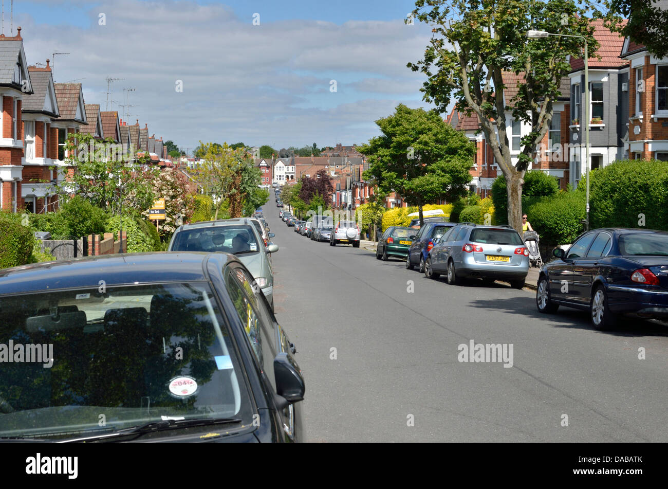 Sutton Road, Muswell Hill N10, London, UK. - Stock Image