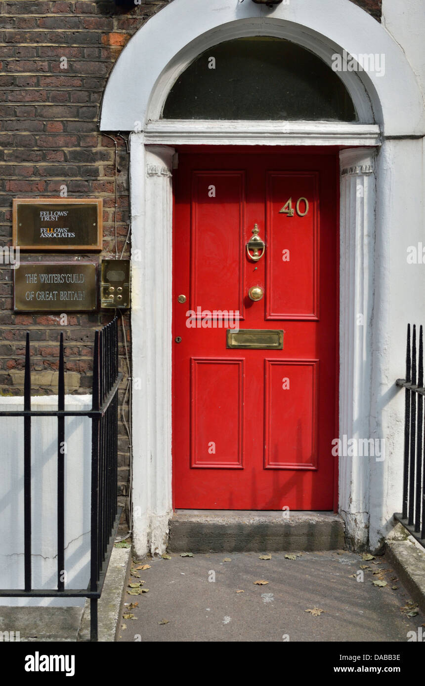 Writers' Guild of Great Britain headquarters in Rosebery Avenue, Clerkenwell, London, UK. - Stock Image