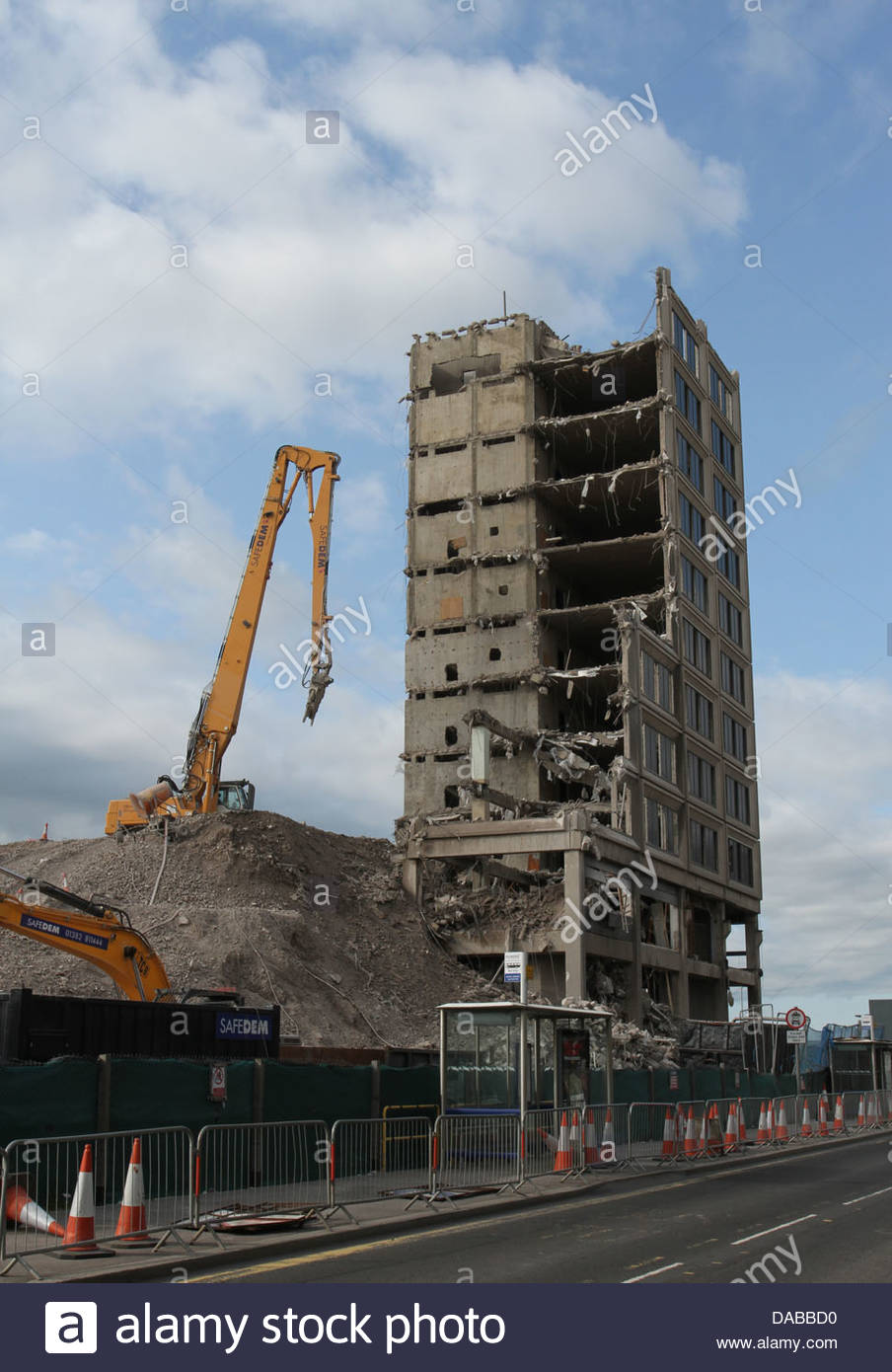 Tayside House under demolition Dundee Scotland  June 2013 - Stock Image