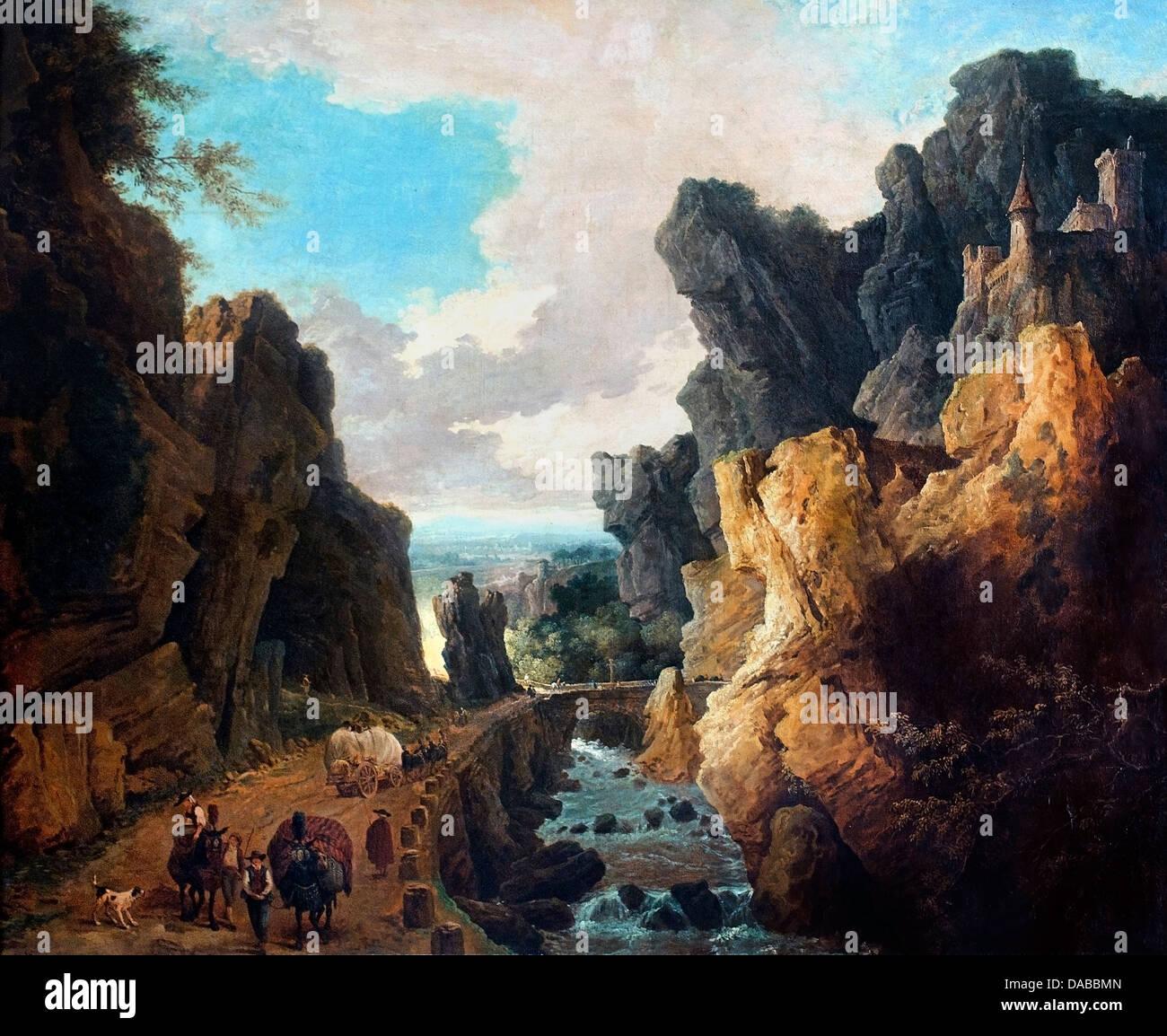 Gorges Ollioules 1753 Hubert Robert 1733-1808 France - Stock Image