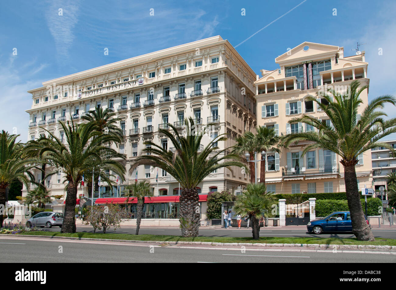 Hotel West End Nice Beach Promenade des Anglais French Riviera Cote D'Azur France - Stock Image