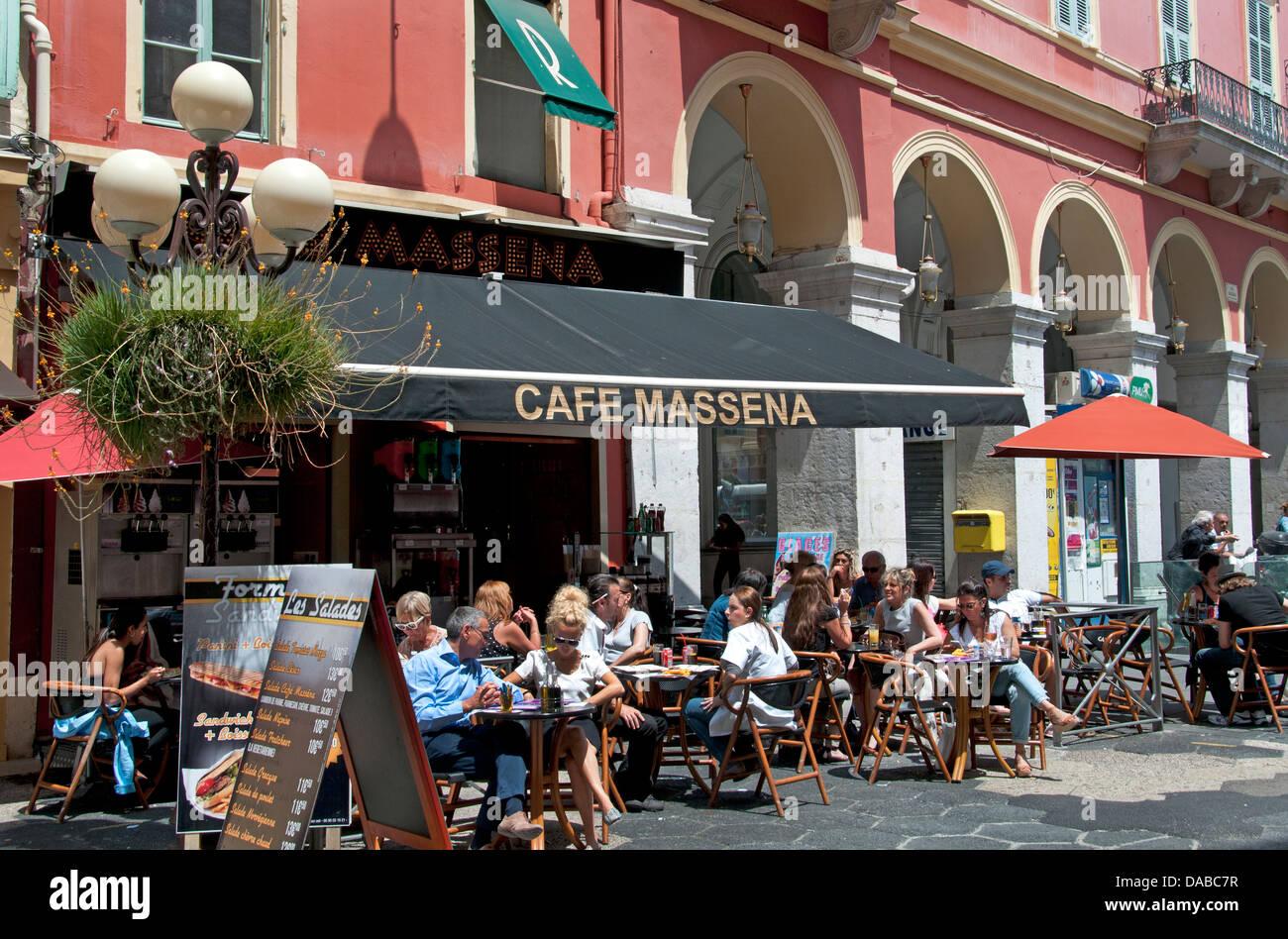 Nice Place Massena French Riviera Cote D'Azur France - Stock Image