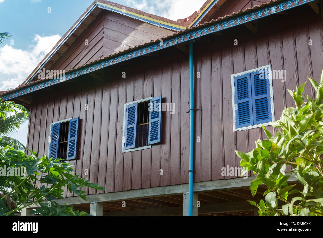 A homestay at Chambok Ecotourism Resort, Cambodia, South East Asia. - Stock Image