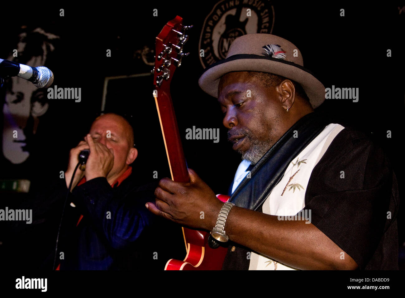 Lurrie Bell from Chicago USA performing live at 20 Rocks club during the 2013 Blues Bonanza in Dundee, UK Stock Photo