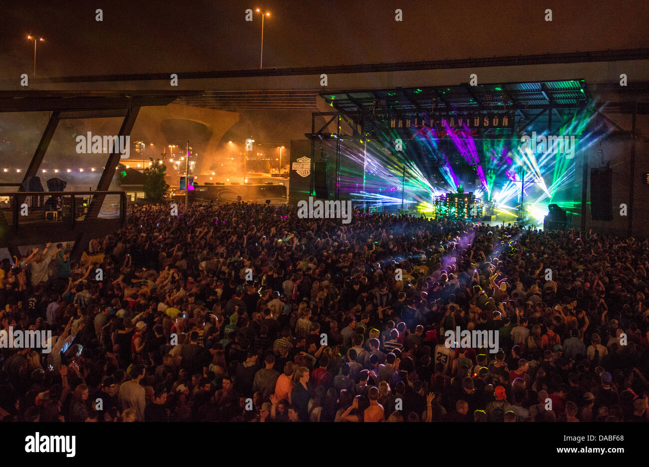 Pretty Lights performing live - Stock Image