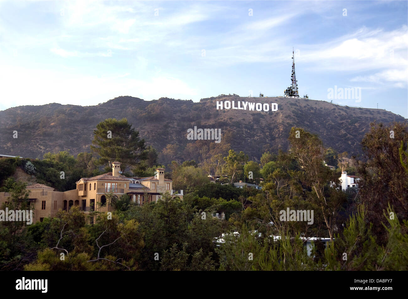The iconic Hollywood Sign - Stock Image