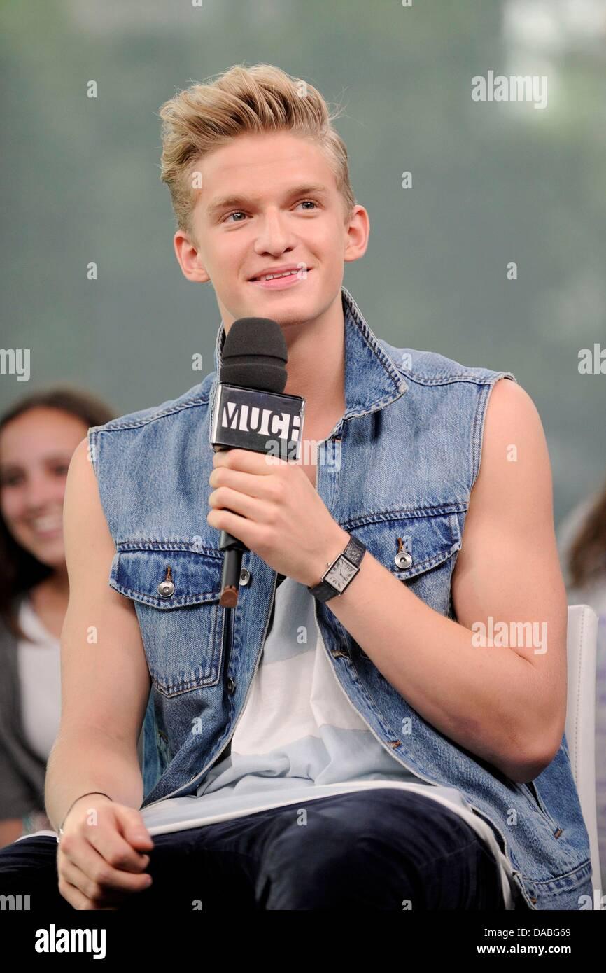 Toronto, ON. 9th July, 2013. Cody Simpson in attendance for Cody Simpson visits Much Music's NEW.MUSIC.LIVE, - Stock Image