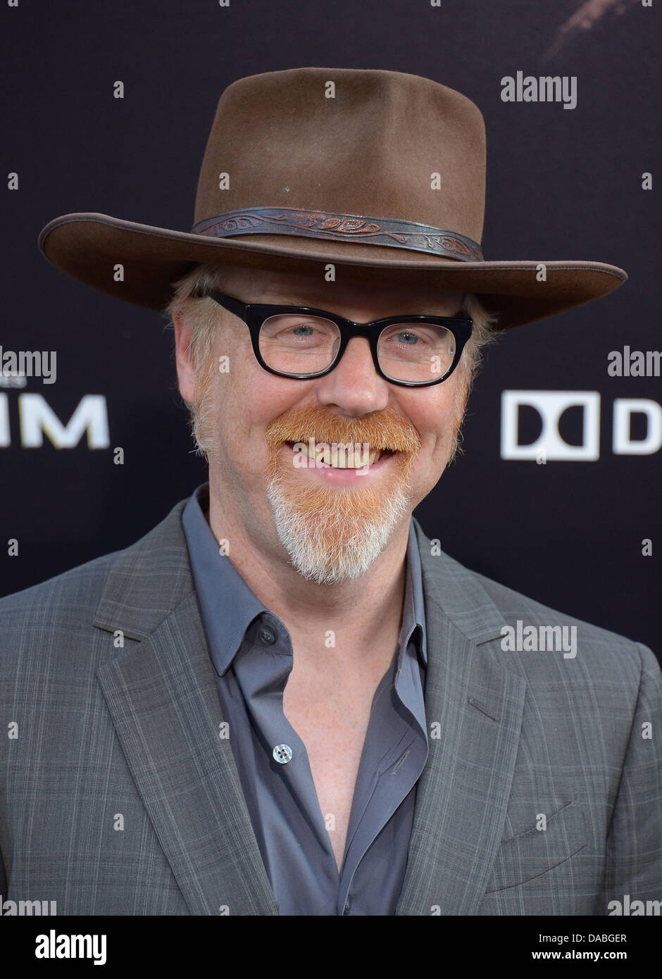 Hollywood, California, USA. 09th July, 2013. Adam Savage arrives at the Los Angeles film premiere for 'Pacific - Stock Image