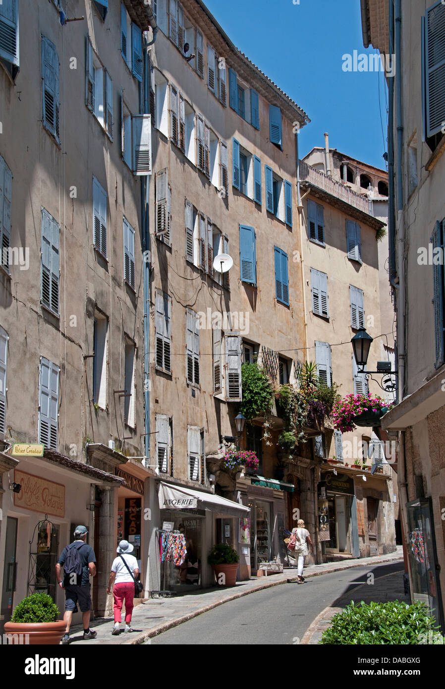 Grasse Town Old Cenrtre Perfume France French - Stock Image