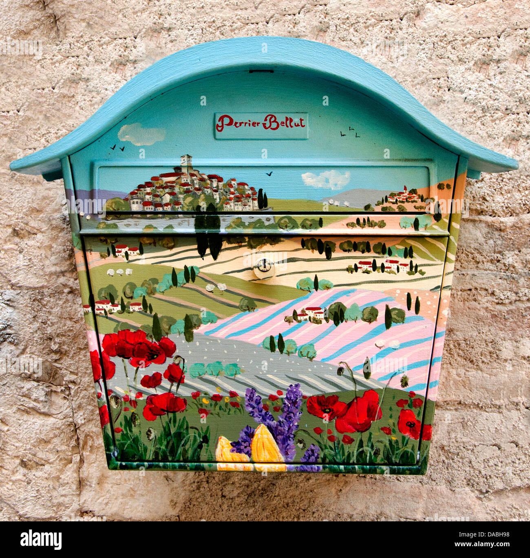 Mailbox of Saint Paul de Vence France Cote D'Azur Art Gallery - Stock Image