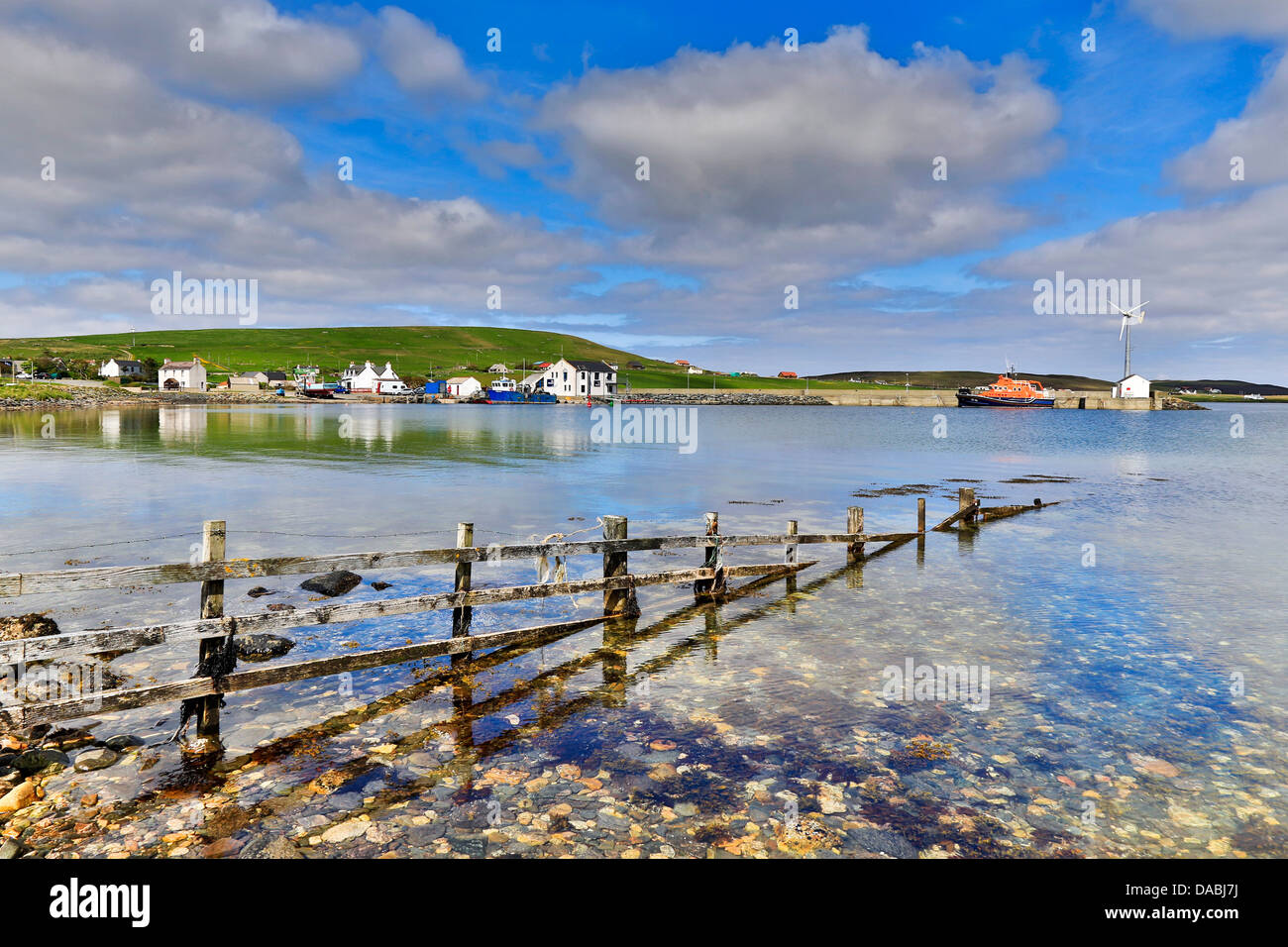 Aith Harbour; Shetland; UK - Stock Image