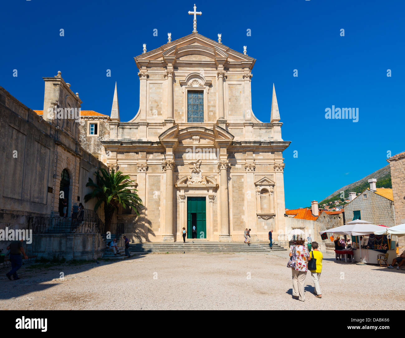 Jesuit Church of St. Ignatius of Loyola, Old Town (Stari Grad), Dubrovnik, Dalmatia, Croatia, Europe - Stock Image