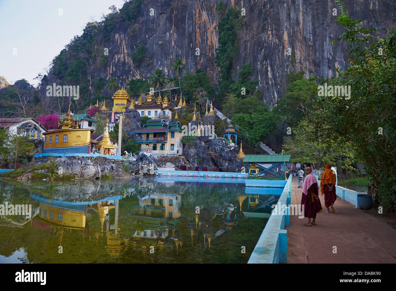 Saddar Cave, near Hpa-An, Karen State, Myanmar (Burma), Asia - Stock Image