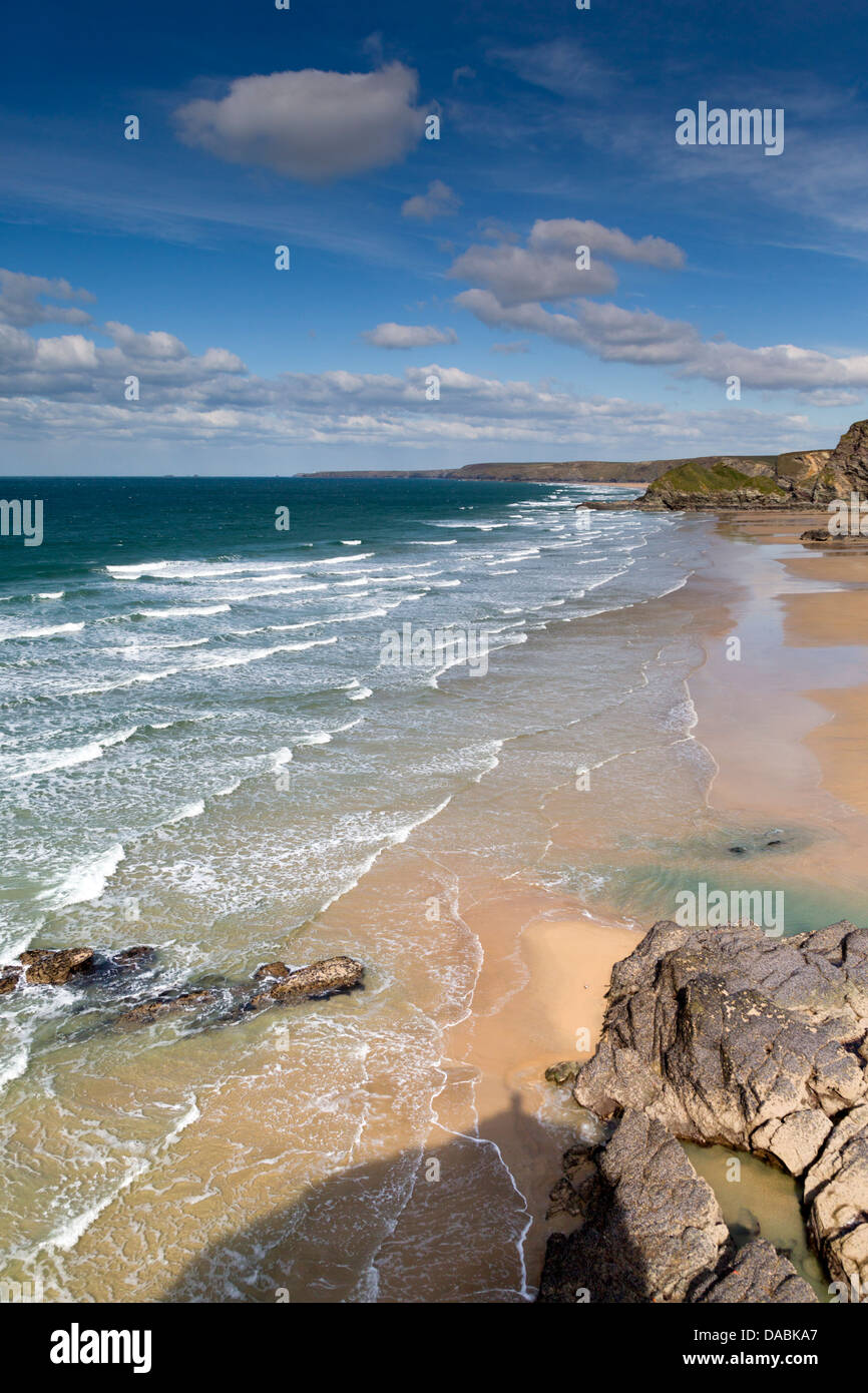 Porth; Newquay; Cornwall; UK - Stock Image