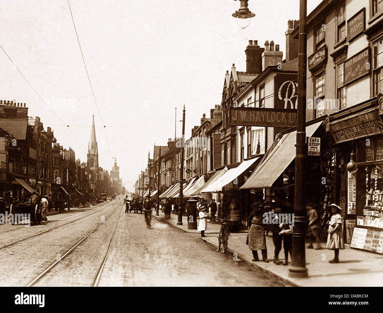 West Bromwich High Street early 1900s - Stock Image