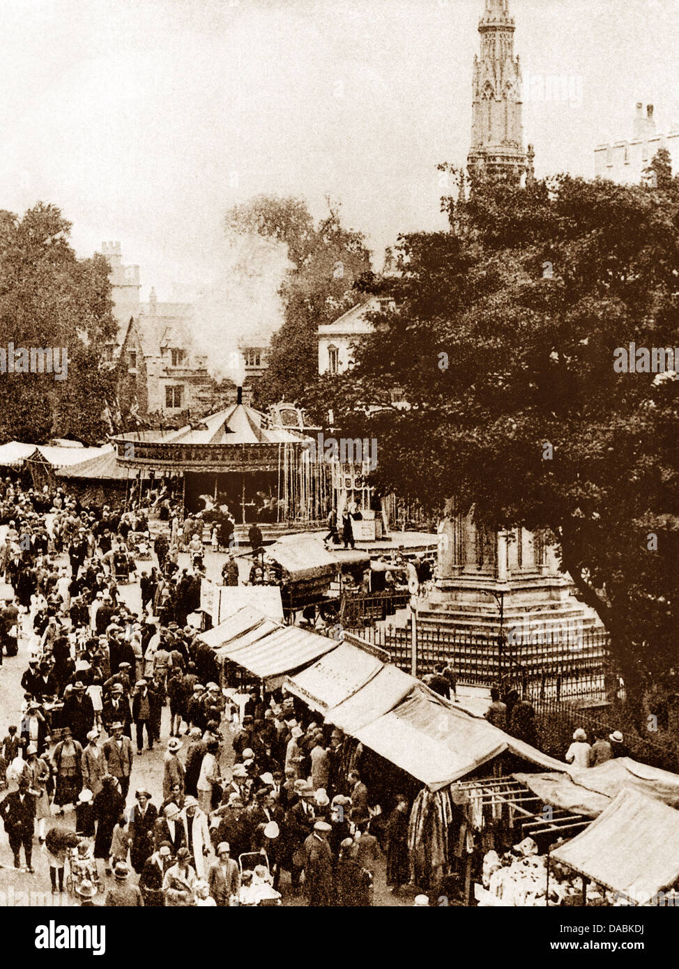 Oxford St. Giles Fair early 1900s - Stock Image