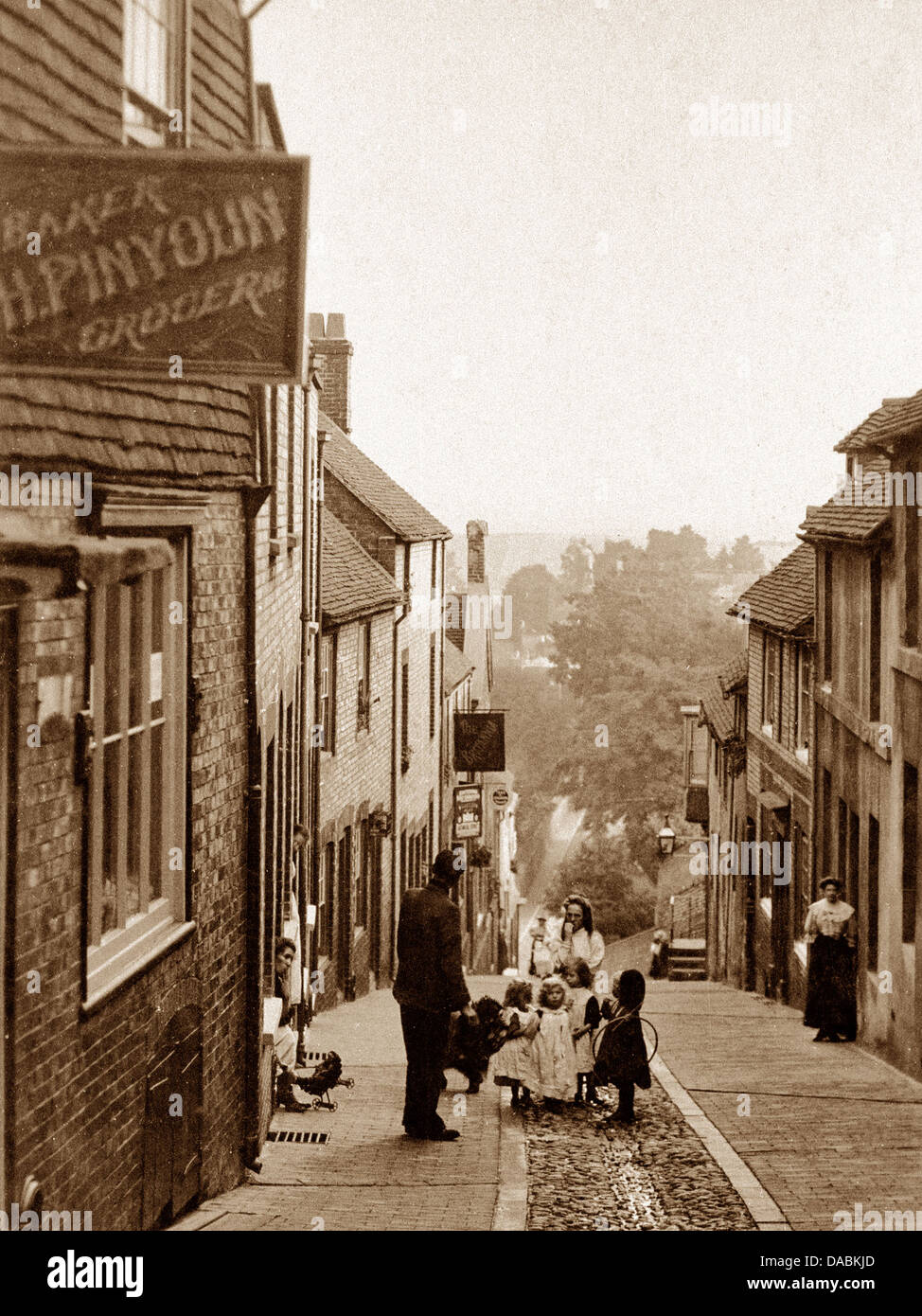 Lewes Keere Street early 1900s Stock Photo