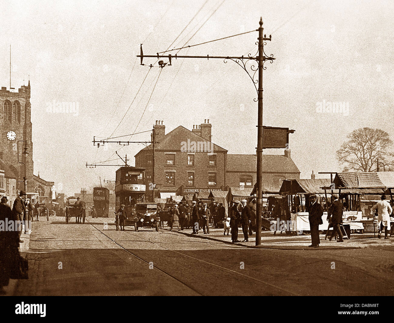 Heanor Market Square probably 1930s - Stock Image