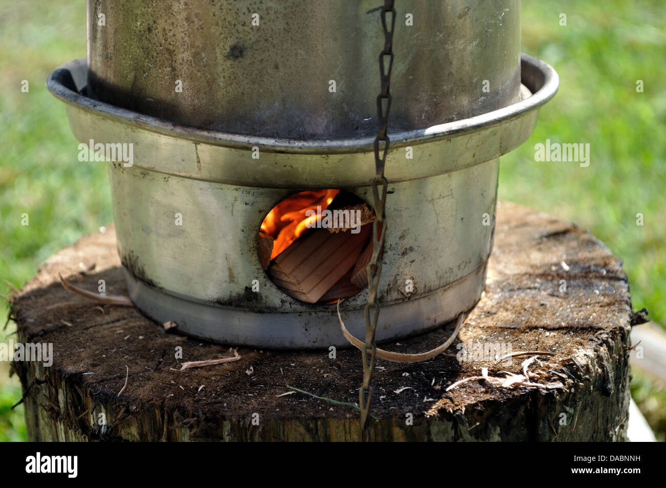 Storm kettle, camping - Stock Image