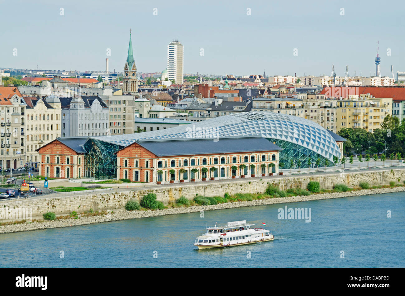 CET, Central European Time Building, Budapest, Hungary, Europe - Stock Image