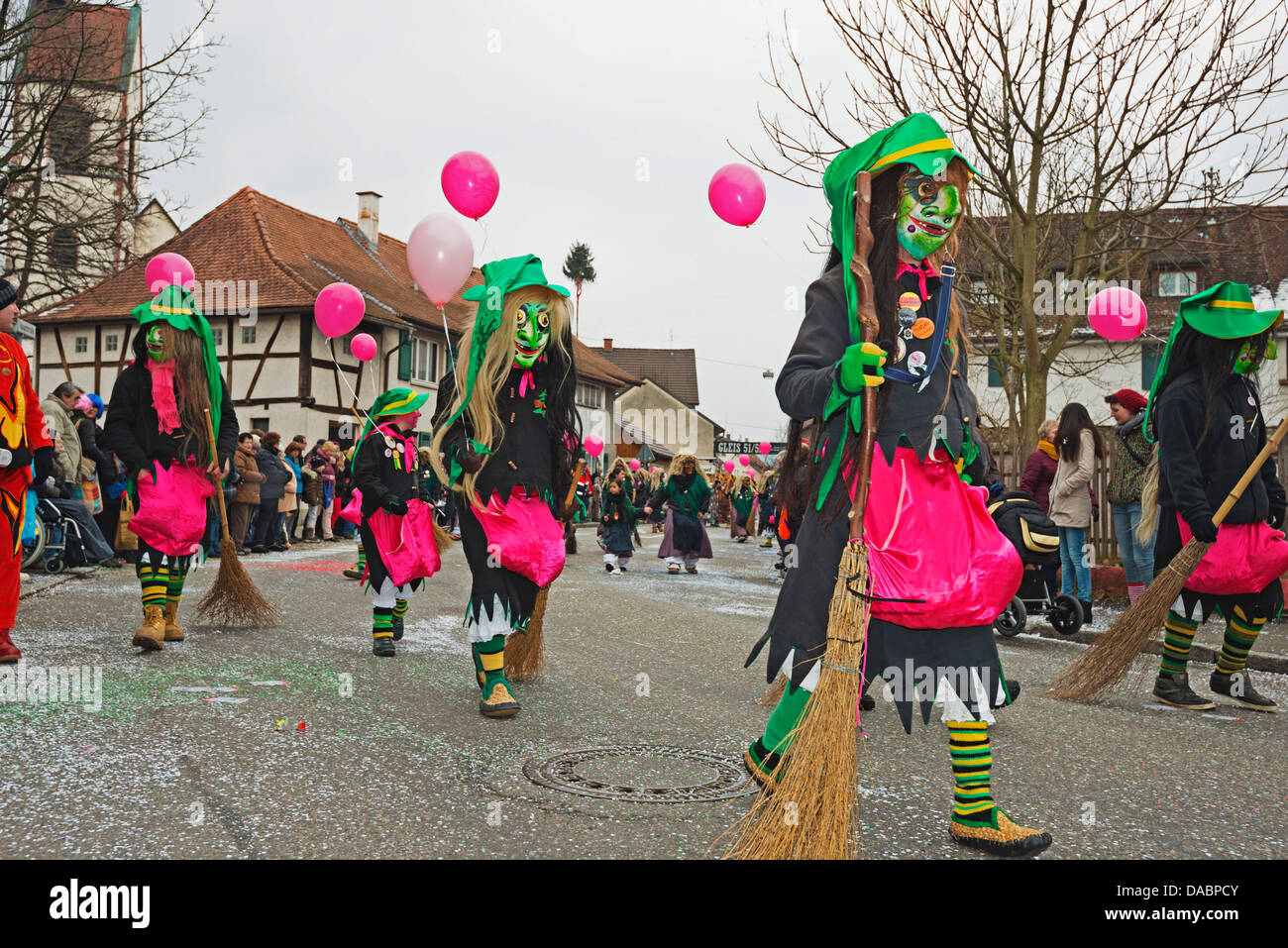 Fasnact spring carnival parade, Weil am Rhein, Baden-Wurttemberg, Germany, Europe - Stock Image